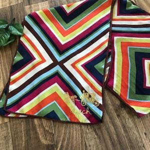 Coach Legacy Diamond Stripe Oblong Silk Scarf